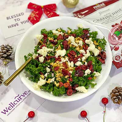 Healthy Dried Cranberry & Walnut Salad
