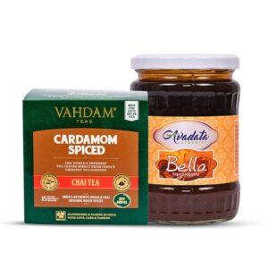vahdam-cardamom-masala-chai-avadata-organics-bella-liquid-jaggery-combo
