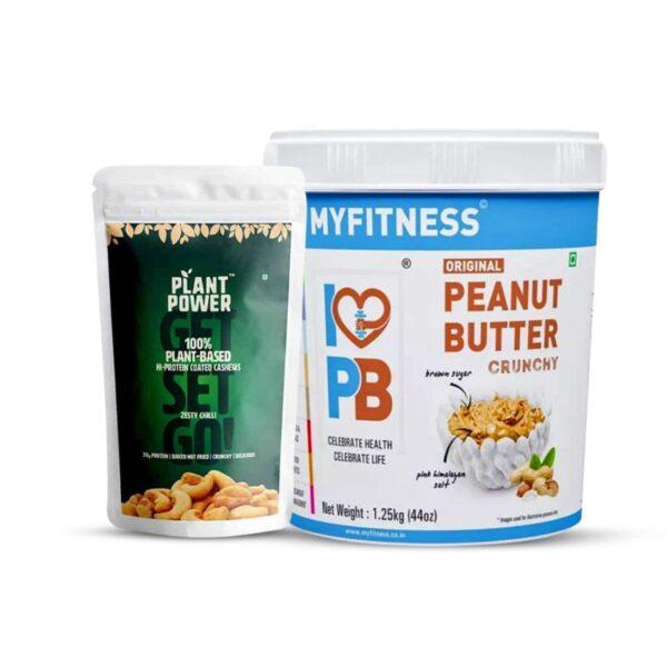 plant-power-hi-protein-coated-cashews-zesty-chilli-myfitness-original-crunchy-peanut-butter-combo