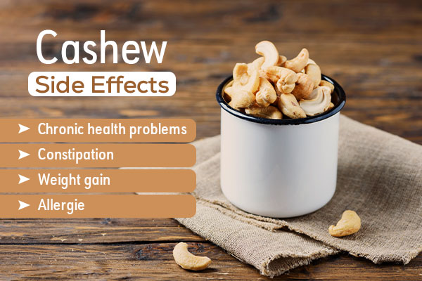 disadvantages of cashew nuts