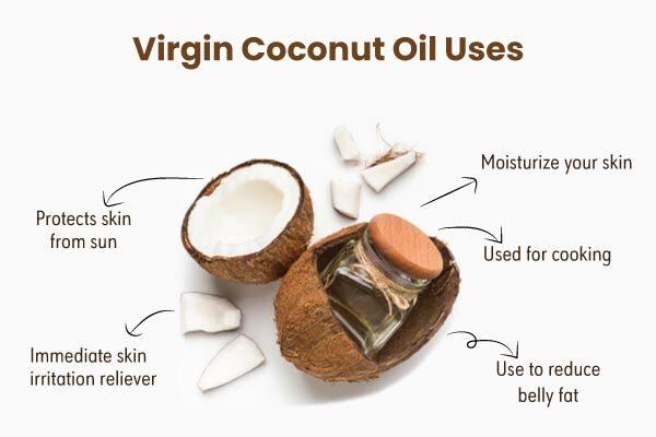 Uses of virgin coconut oil
